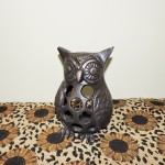 Bella Lux Cast Iron Owl Candle Holder