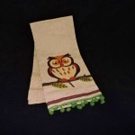 Bella Lux Embroidered Owl Kitchen Towel