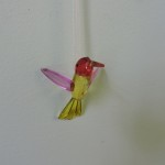 Crystal Hummingbird Sun Catcher