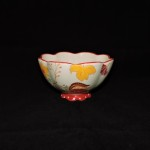 Dutch Wax Hand Painted Ceramic Flower Bowl