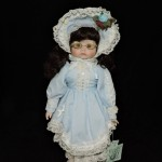 Dynasty Doll Collection Porcelain Doll With Blue Dress