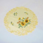 Embroidered Yellow Sunflower Doily