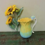 Grasslands Road Yellow & Blue Flower Pitcher