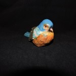 Hand Painted Resin Blue Bird