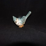 Hand Painted Resin Blue Jay Figurine