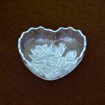Heart Shaped Dish With Frosted Roses