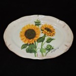 Italian Ceramic Sunflower Platter