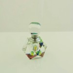 Multicolor Crystal Faceted Perfume Bottle