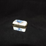 Rectangular Trinket Box With Blue Flowers