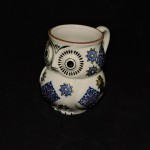 Royal Hand Painted Owl Mug With Blue & Yellow Accents