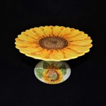 Sketch Sunflower Cake Stand