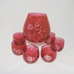 Vintage Cranberry Snifter and Glasses