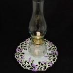 Vintage Lamplight Farms Glass Hurricane Oil Lamp