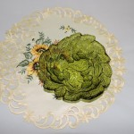Vintage Indiana Glass Green Loganberry Dish