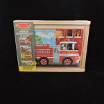 Melissa & Doug Vehicles Wooden Jigsaw Puzzles In A Box