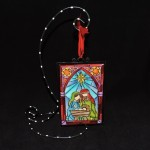 burton + Burton Stained Glass Look Holy Family Christmas Ornament
