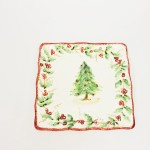 Christmas Tree Garland Salad Plate by Maxcera