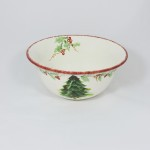 Christmas Tree Garland Serving Bowl by Maxcera