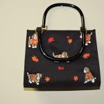 Kim Rogers Autumn Handbag With Dogs & Leaves